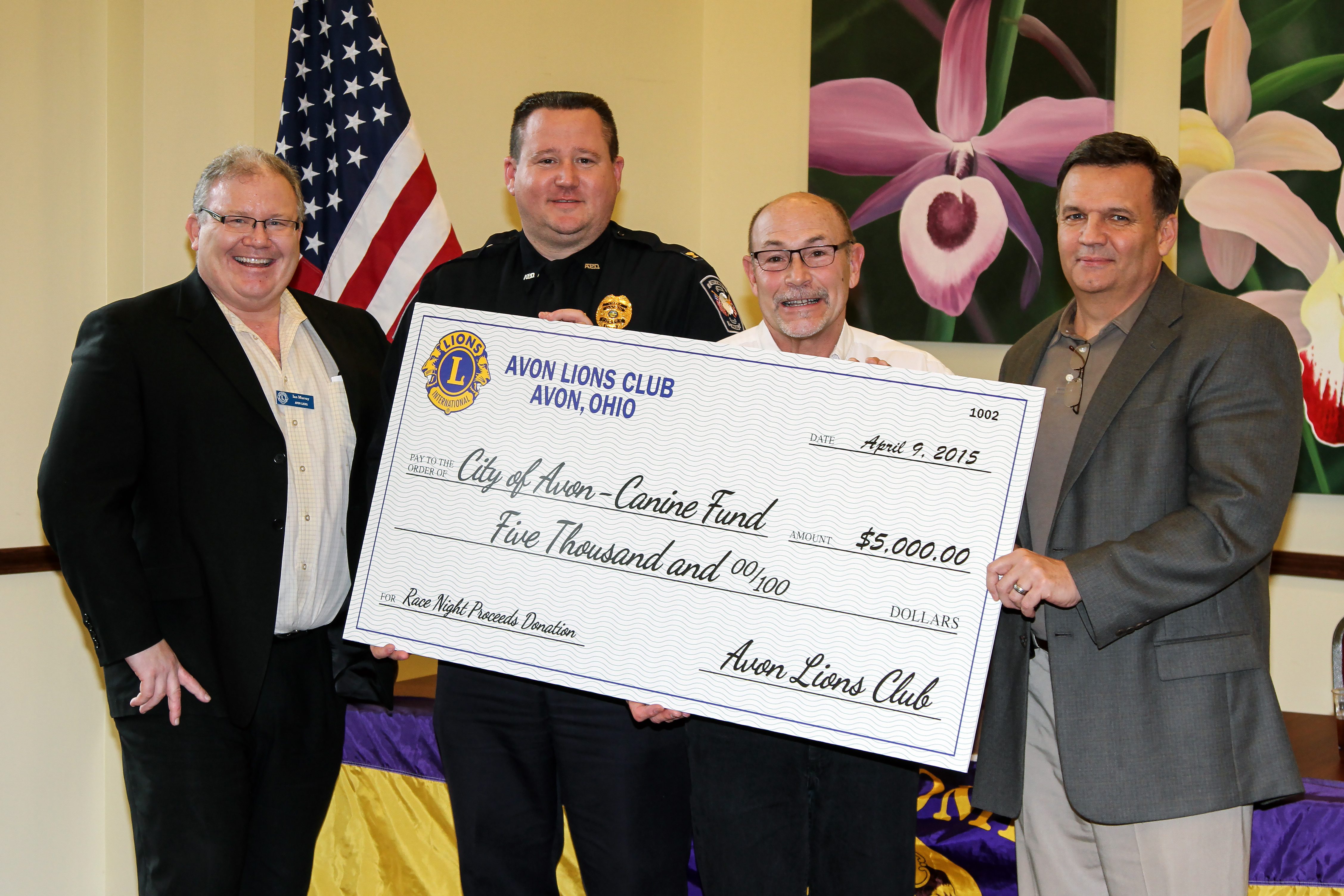 Lion's Club Canine Donation 2015